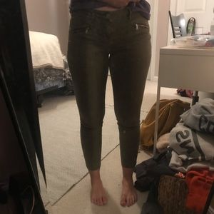 Green Kendall and Kylie PacSun jeans